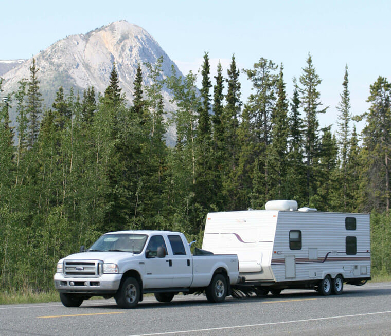Towable RV and motorhome rentals
