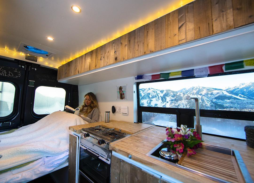 living in a campervan conversion in the winter