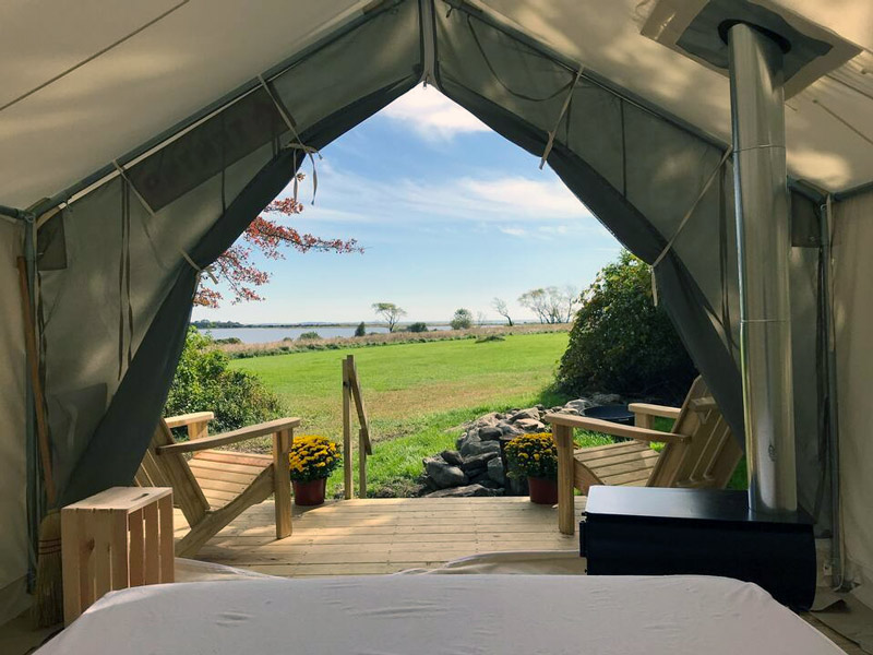 Glamping In A Rhode Island Luxury Glamping Tent