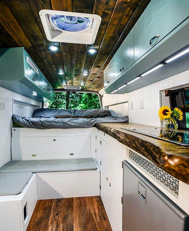 Living in a campervan conversion