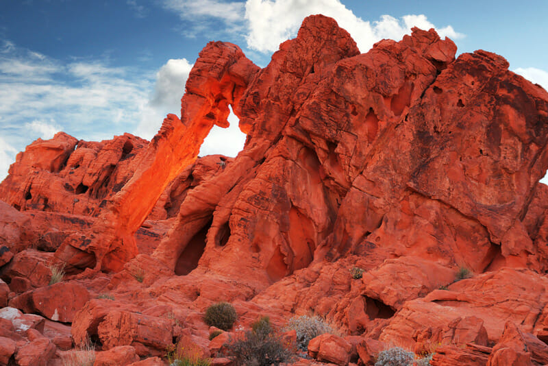 elephant rock formation at the valley of fire state park in nevada