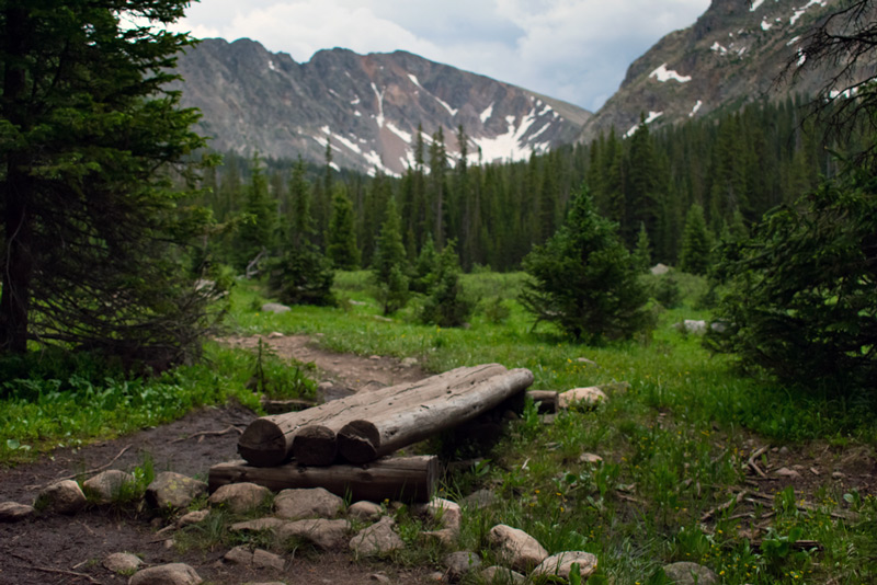 hiking trail in rocky mountain national park colorado