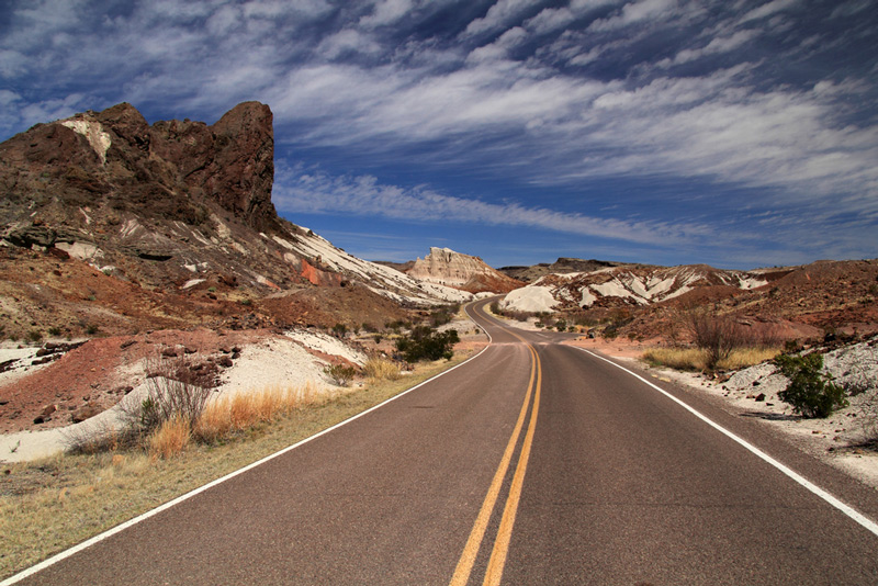 ross maxwell scenic drive in big bend national park
