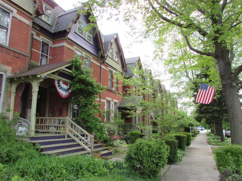 Row houses at the Pullman National Monument in Chicago, Illinois