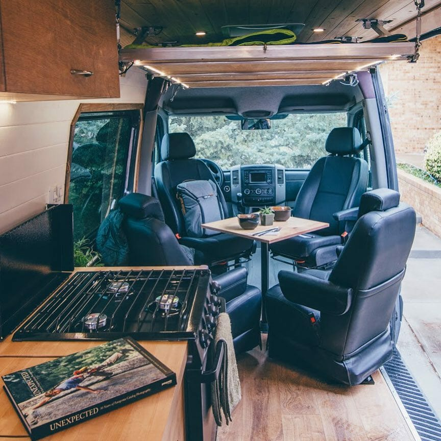 building a table into a diy camper van or rv