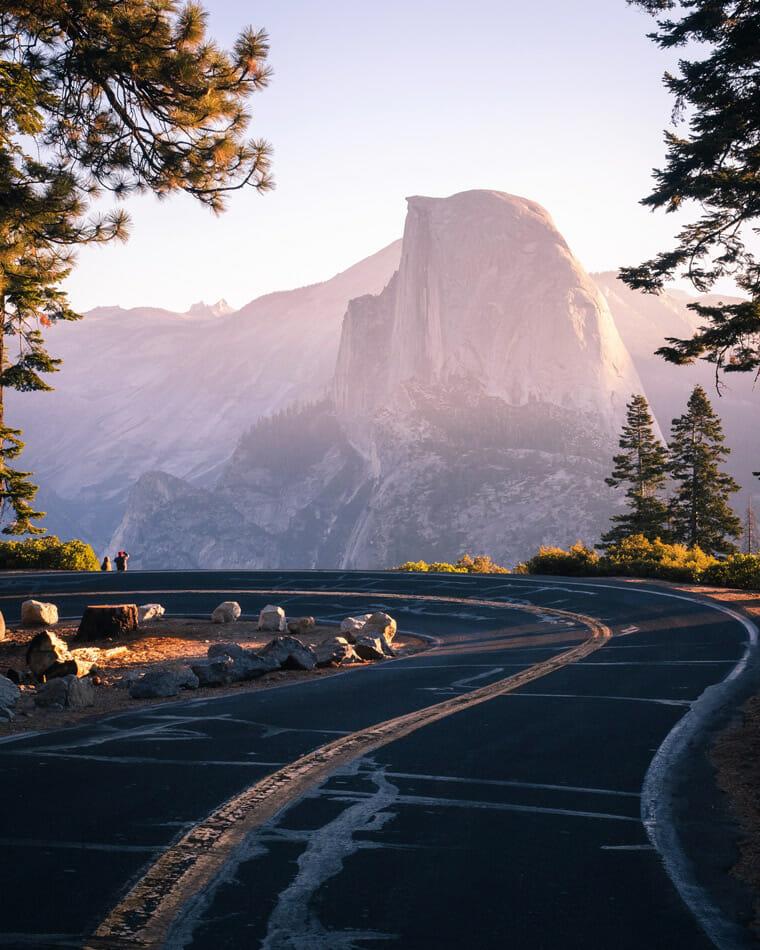 RV camping near half dome in Yosemite National Park