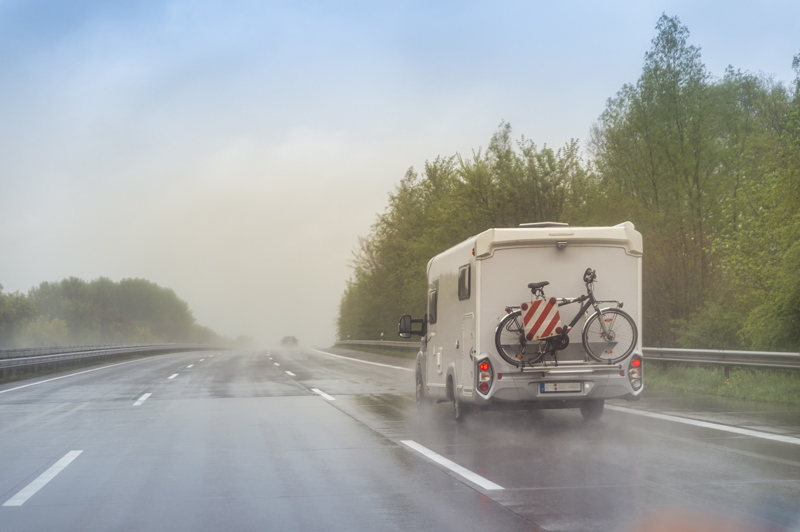 applying a roof coating to your rv for rain protection