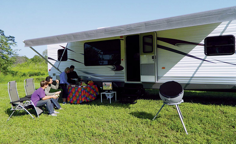 Portable RV satellite TV antenna