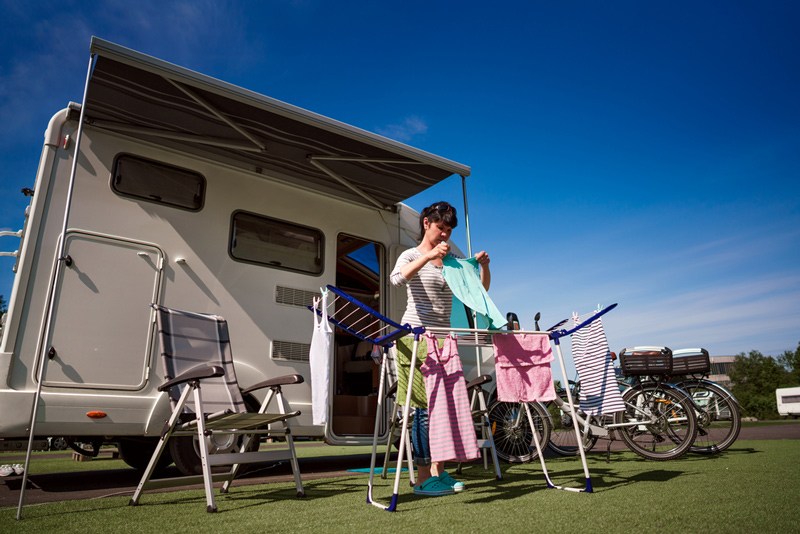 Using An Rv Washer Dryer To Do Laundry While Camping In A Travel Trailer