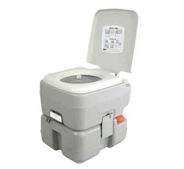 portable chemical toilet for camping