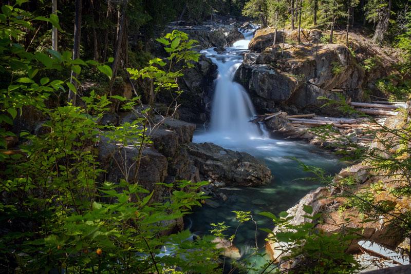 silver falls trail in mt rainier national park