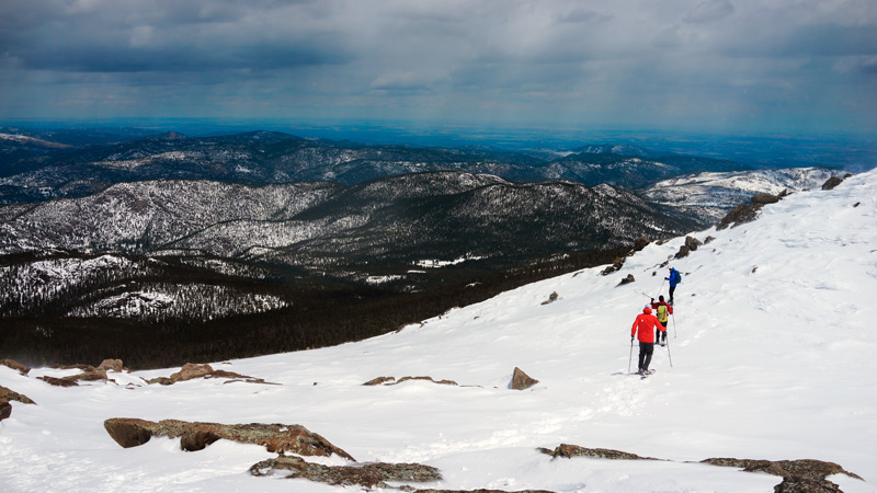 snowshoe hiking in the colorado mountains