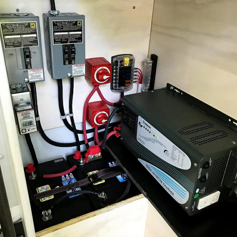 Installation Of A Solar Panel And Battery System In A Diy Camper Van Conversion