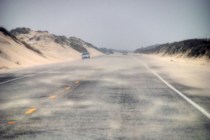 road on south padre island national park