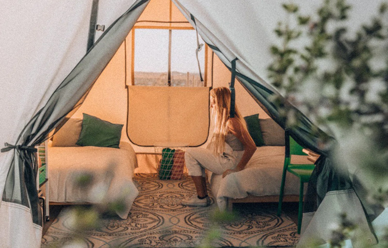 Glamping In A Stargazing Yurt Near Joshua Tree, California