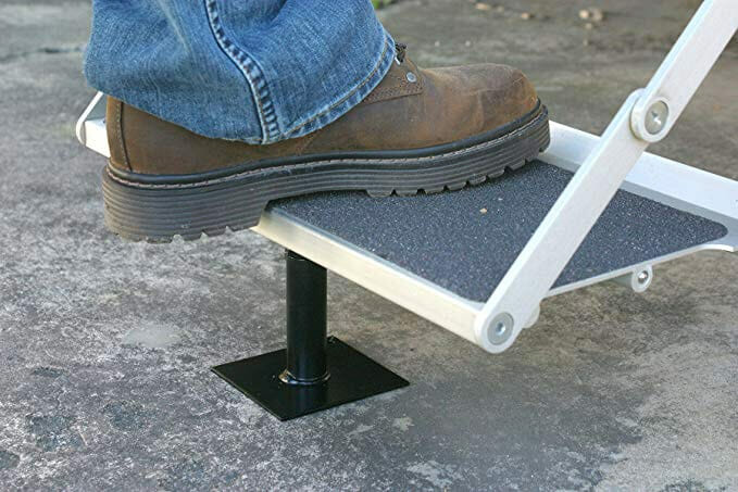 rv stair step support brace
