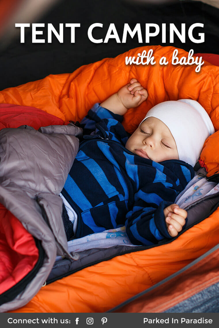 tent camping with a baby in cold weather