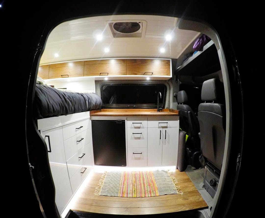 camper van conversion interior by bwcdenver
