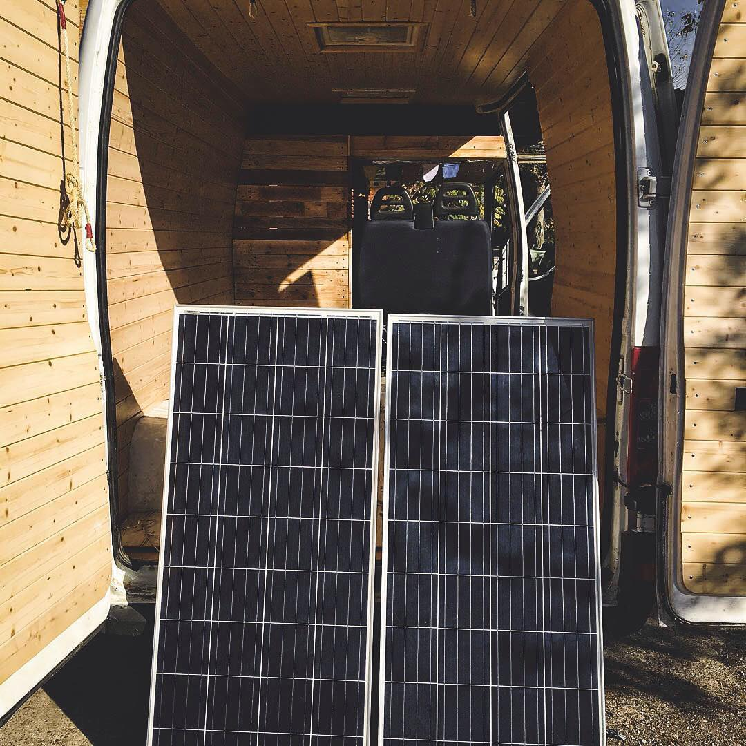 Solar power system for a van