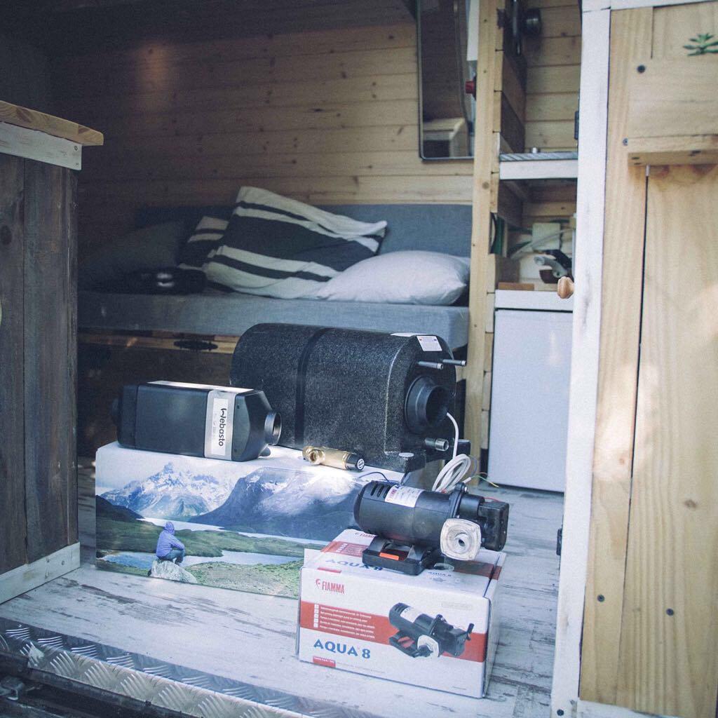 Webasto diesel heater installation in a campervan conversion