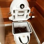 Composting toilet in a campervan conversion