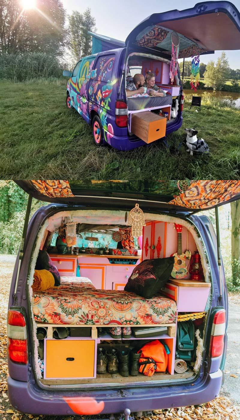 toyota hiace minivan camper conversion