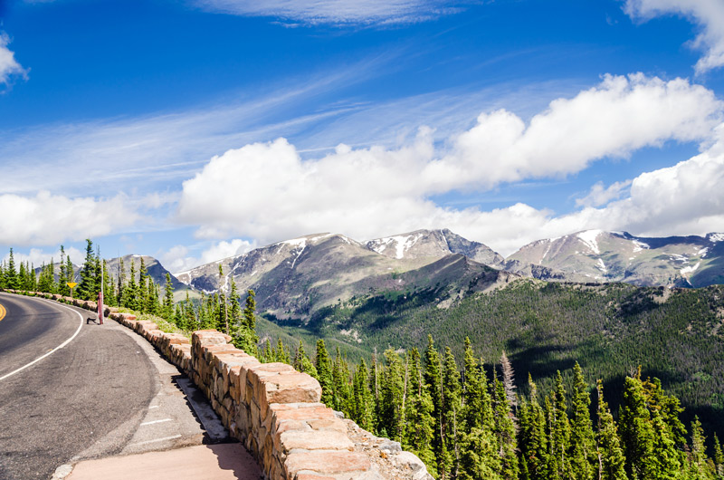 view from trail ridge road in rocky mountain national park colorado