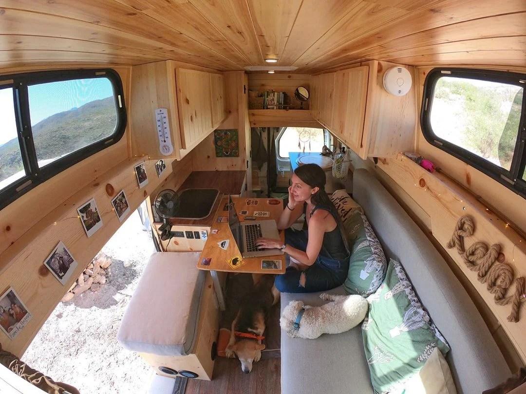 Living in a diy transit camper van