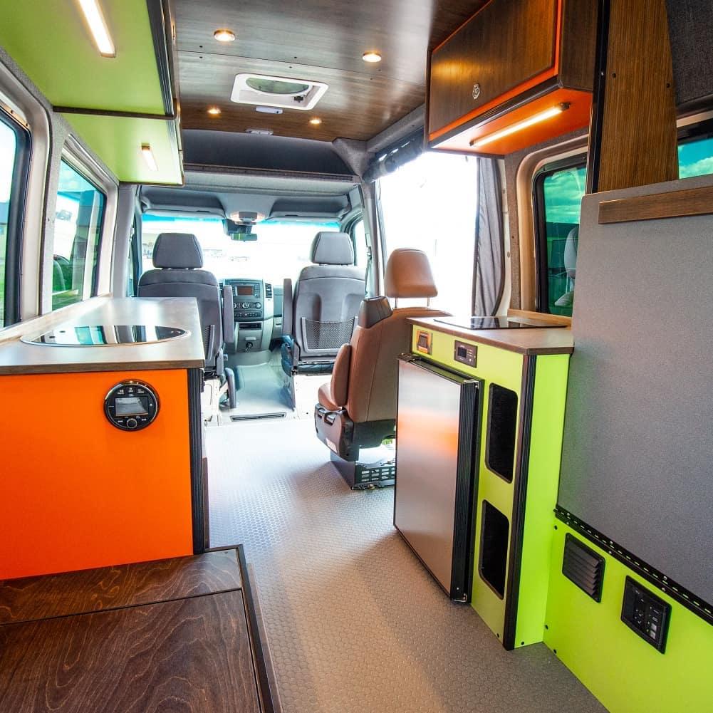 Transit van camper