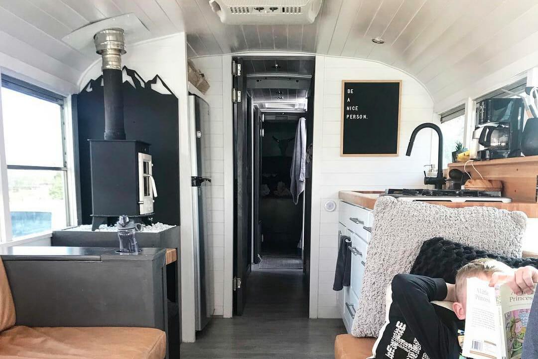 custom diy skoolie bus conversion design layout