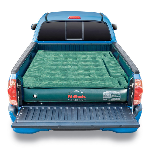 sleeping on a truck bed mattress
