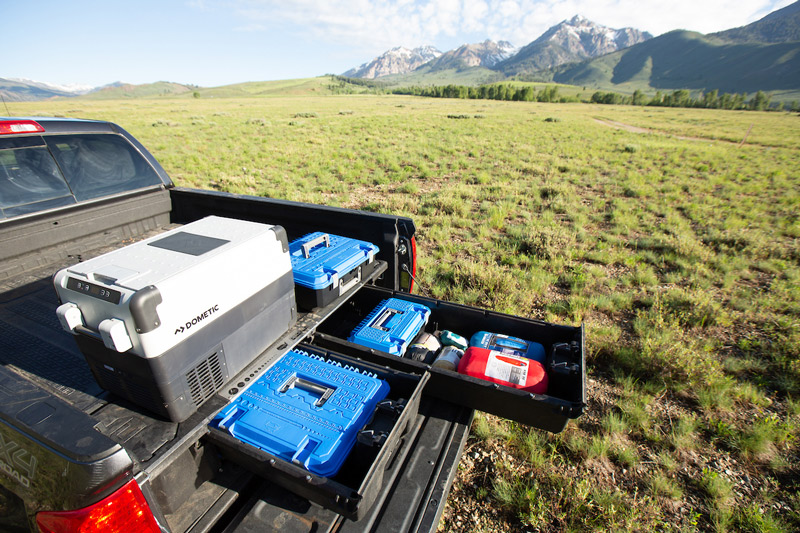 portable refrigerator for an overland truck