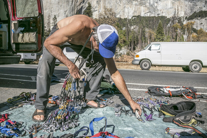 van life is popular with the climbing community because they can camp next to the best routes