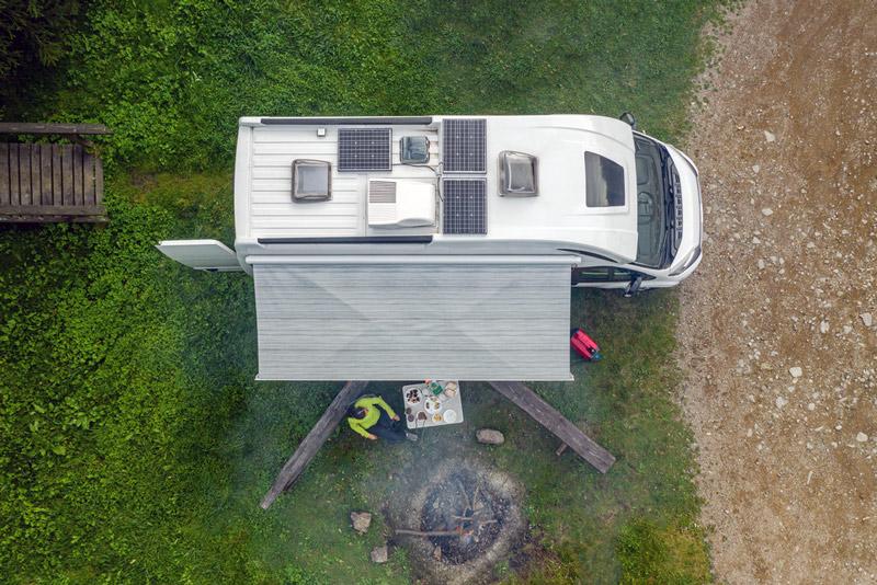 installing diy solar on a van life conversion