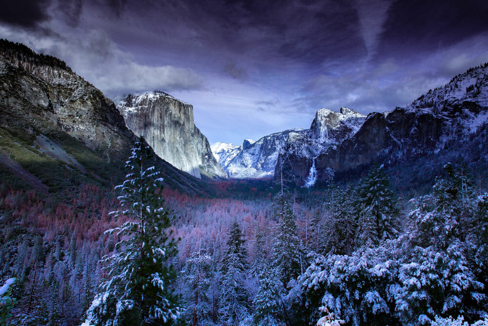 one of the best seasons to visit yosemite national park is during the winter
