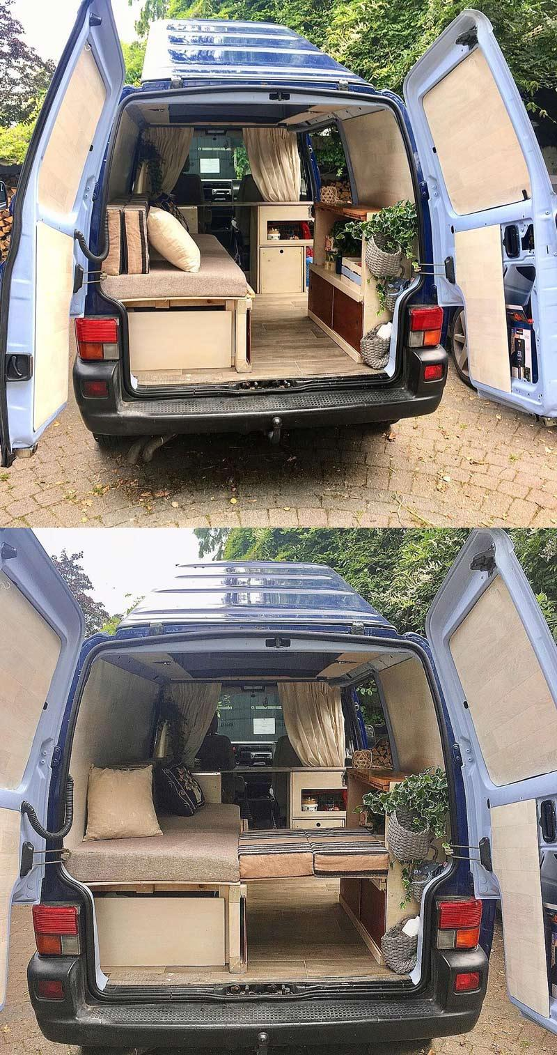 vw t4 minivan camper converison