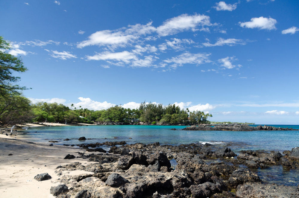 Waialea beach trail in hawaii