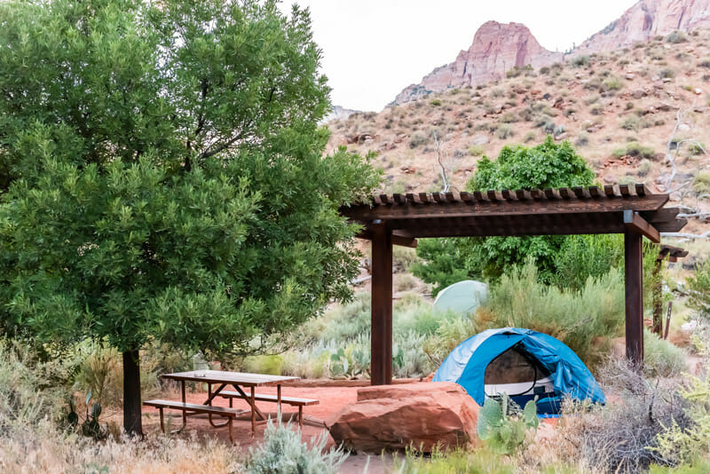 watchman campground in zion national park