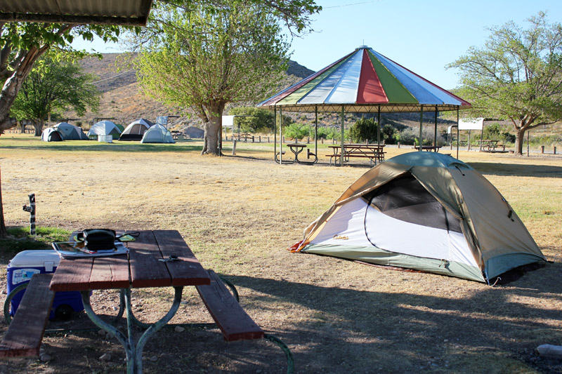 tent and rv campground in white city new mexico near carlsbad caverns