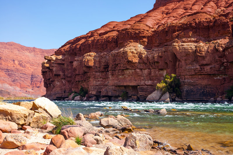 whitewater rafting in glen canyon national recreation area