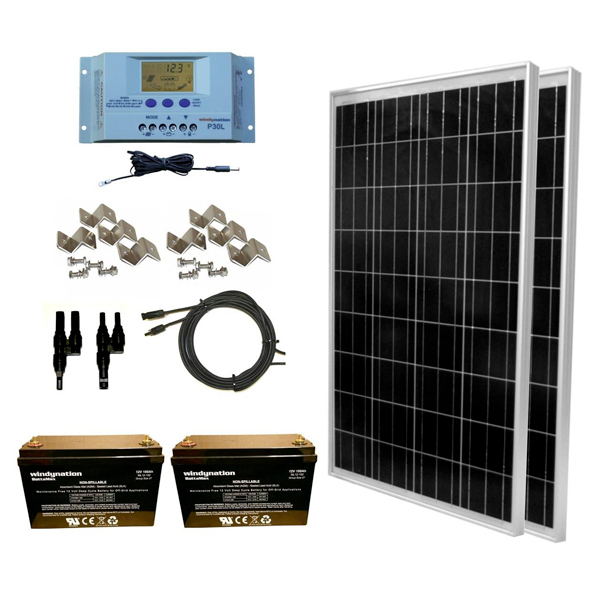 rv solar panel kits with battery