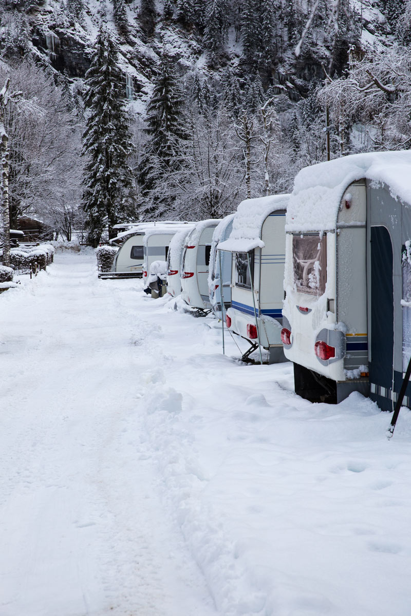 RV winter parking storage