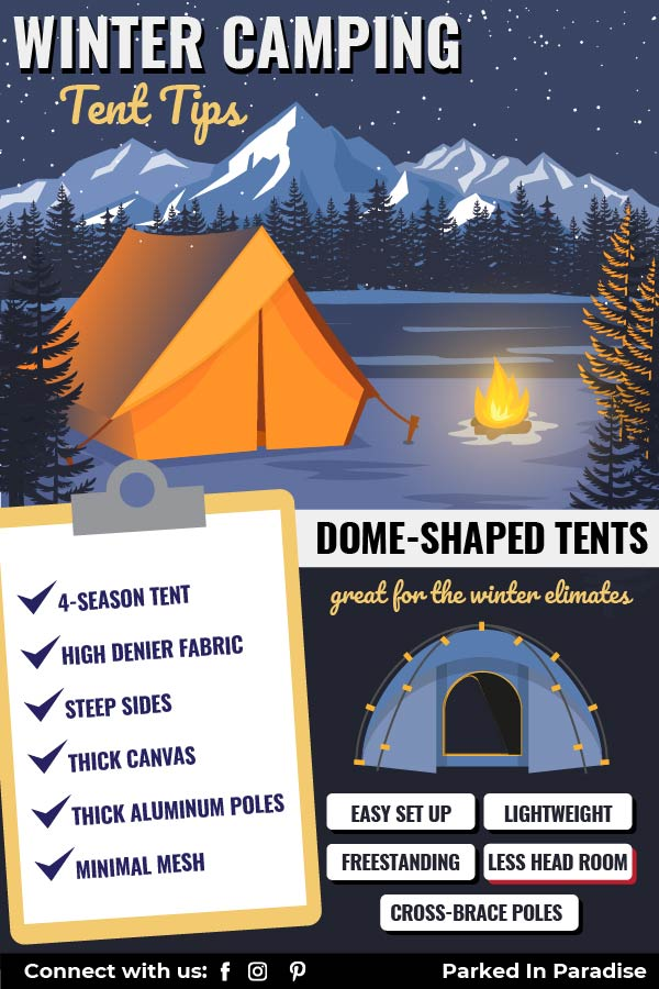 tips for camping in snow during winter