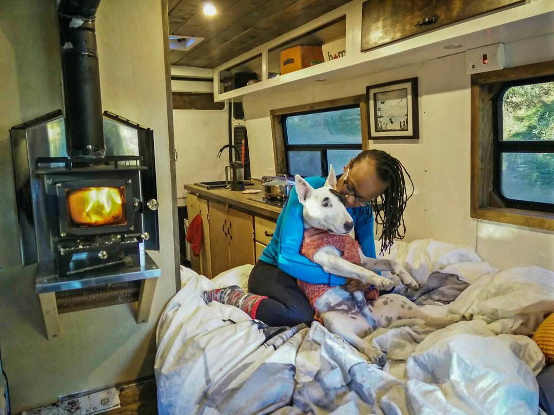 Heating a campervan conversion with a mini wood stove