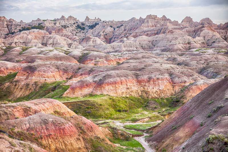 Overlook At The Yellow Mounds In Badlands South Dakota