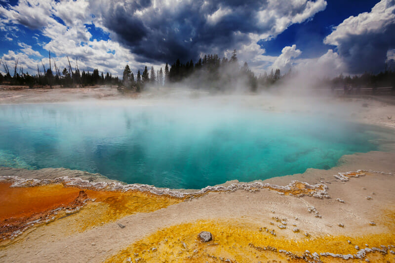 visiting yellowstone national park in montana