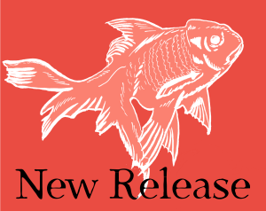 New Release, angel goldfish in peach on scarlet