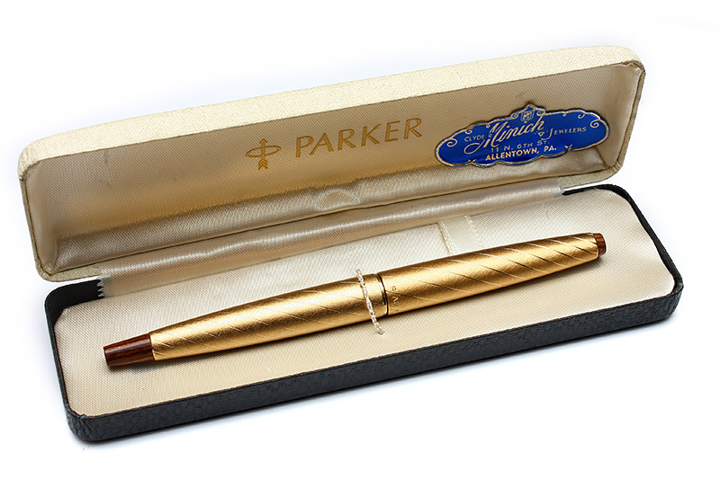 Parker 45 Lady Pen Gold Brocade C1967 Boxed