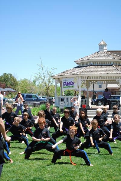 Karate martial arts demo parker co o'brien park