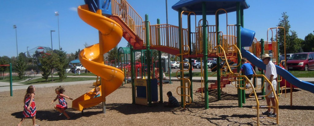 Obrien Park Parker Colorado Mainstreet Park with kids playing